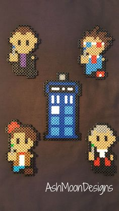 Doctor Who Perler Bead Figures by AshMoonDesigns on Etsy