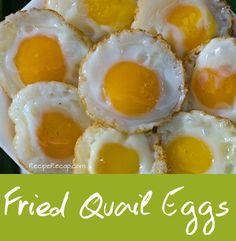 Fried Quail Eggs Recipe