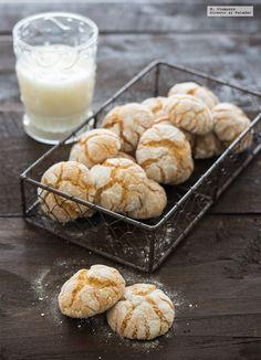 Galletas crinkles blancas. Receta