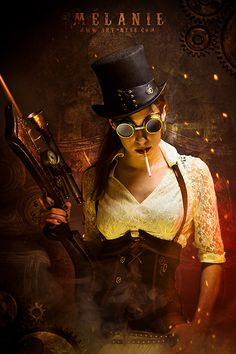 Safari Steampunk Anyone? Steampunk is a rapidly growing subculture of science fiction and fashion. Steampunk Cosplay, Chat Steampunk, Viktorianischer Steampunk, Design Steampunk, Steampunk Clothing, Steampunk Interior, Steampunk Artwork, Renaissance Clothing, Costume Ideas