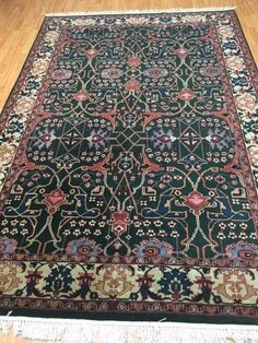 "6' x 9'1"" New Indian Kashan Oriental Rug - Hand Made - 100% Wool #TraditionalPersianOriental"