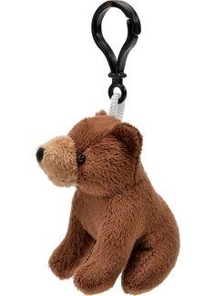 Brown Bear Plush Clip-On Stuffed Animal by Unipak