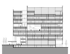 Image 32 of 32 from gallery of Gates Vascular Institute / Yazdani Studio of CannonDesign. Building Section, Cannon, Floor Plans, Studio, Architecture, Gallery, Gates, Buildings, Design