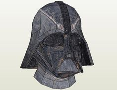 Star Wars - Darth Vader Helmet In 1/1 Scale - by Shannon - via Pepakura Gallery This cool paper model of the iconic Darth Vader Helmet in 1/1 scale was created by designer shannon and was originally posted at Pepakura Gallery website. You can change textures, as I did in the images of this post. To view and print this model you will need Pepakura Viewer Free Version (link at the end of this post).