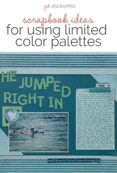 Las ideas del libro de recuerdos para la incorporación de impacto en una paleta de color limitada    Obtenga un desguazado
