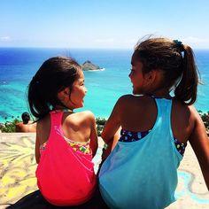 family hikes in paradise.   ivivva Honolulu