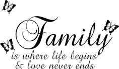Family Is where Life Begins  Wall art Sticker by WeSellWallArt, £10.00