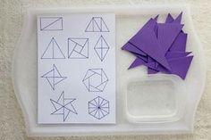 Activité d'éveil pour les enfants : les triangles géométriques pour un atelier Montessori