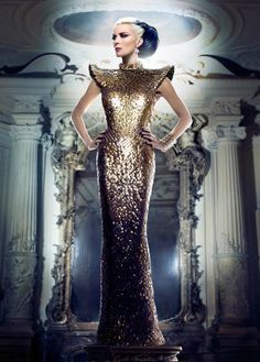 Edgy Ostentatious Couture - Daphne Guinness Stars in an Editorial for Tatler Hong Kong March 2012 (GALLERY)