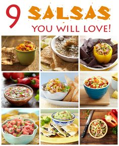 9 Salsa Recipes You Will Love! - Amanda's Cookin'