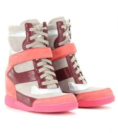 Nike Sky Hi Wedge Sneaker Purple Pink Snakeskin
