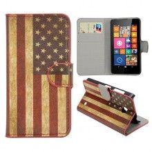 Capa Livro Nokia Lumia 630 - 635 Design Bandeira USA 1 8,99 €
