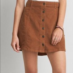 Button down skirt Corduroy button down American Eagle Outfitters Skirts Mini