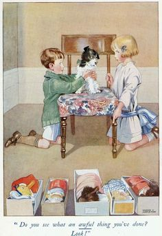 Watercolor illustration -- by Honor C. Appleton (1879--1951) English