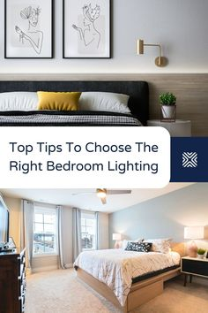 The perfect modern bedroom requires having the perfect lighting design! With that in mind, let's help you find the right lighting for your bedroom design. Small Room Bedroom, Cozy Bedroom, White Bedroom, Modern Bedroom, Bedroom Decor, Bedroom Ideas, Cool Lighting, Lighting Design, Lighting Ideas