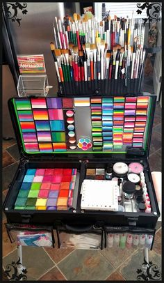 Face painting examples are very useful in the art of face painting. One of the greatest things about face painting examples, is that there are many reference Face Painting Supplies, Face Painting Tutorials, Paint Supplies, Face Painting Designs, Painting Patterns, Painting For Kids, Paint Designs, Face Painting Kits, Face Paintings