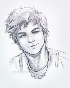 the only way to get out of an artblock is to draw cute boys (: today it's Logan Lerman as Percy Jackson cause i was talking about him with my friends :3