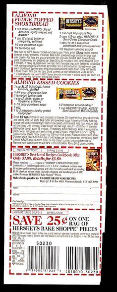 3/31/1998 Hershey's Ad Recipes  Newsletter Box ღஐƸ̵̡Ӝ̵̨̄Ʒஐღ