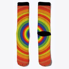 Rainbow Leggings Red T-Shirt Front Socks For Sale, Red T, Rainbow, Leggings, T Shirt, Fashion, Rain Bow, Supreme T Shirt, Moda