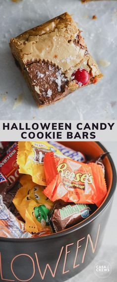 Candy Bar Cookies, Cookie Bars, Halloween Cookies, Halloween Candy, Yummy Treats, Food And Drink, Tasty, Favorite Recipes, Sweets