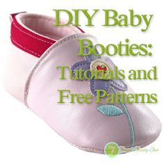 Frugal Family Fair: DIY Baby Booties: Tutorials and Free Patterns Baby shoes Baby Shoes Pattern, Shoe Pattern, Baby Patterns, Sewing Patterns, Baby Sewing Projects, Sewing For Kids, Handmade Baby, Diy Baby, Couture Bb