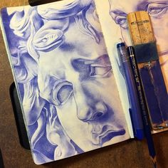 Sketchbook pages, art sketchbook. Art Drawings, Gcse Art Sketchbook, Sketchbooks, Ballpoint Pen Art, Art Addiction, Comic Drawing, Colorful Drawings, Graphic Illustration, Pencil Drawings