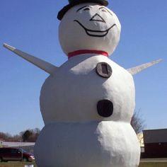 The North St. Paul snowman