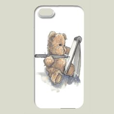 Fun Indie Art from BoomBoomPrints.com! https://www.boomboomprints.com/Product/buffykaufmanart/The_Artist/iPhone_Cases/iPhone_5_Slim_Case/ #boomboomprints #teddybear
