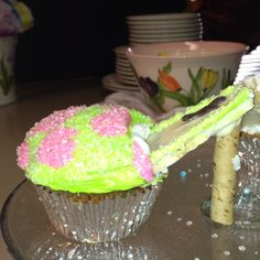 Side view of high heel cupcakes!