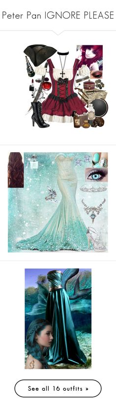 """""""Peter Pan IGNORE PLEASE"""" by neverland-is-just-a-dream-away ❤ liked on Polyvore featuring S.W.O.R.D., Misa, Demonia, Wet Seal, Christian Dior, MAC Cosmetics, Jamie Young, ELSE, Ethan Allen and Badgley Mischka"""