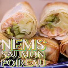 Try the spring rolls with leeks, salmon and grated emmental cheese for your aperitifs this summer! Try the spring rolls with leeks, salmon and grated emmental cheese for your aperitifs this summer! Buzzfeed Food Videos, Buzzfeed Tasty, Healthy Dinner Recipes, Low Carb Recipes, Rice Wrappers, Mini Foods, Keto Diet For Beginners, Seafood Recipes, Italian Recipes