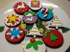 Fondant Christmas chocolate cookies!!!