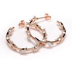 Σκουλαρίκια κρίκοι ασήμι επιχρυσωμένο ζιργκόν 925  1675 Jewels, Jewellery, Bracelets, Gold, Jewerly, Schmuck, Bracelet, Gemstones, Fine Jewelry