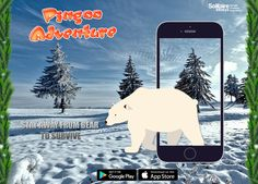 Bear works on a simple principle, '#Simplefood, simple pleasures'. Well! It can be the reason that #Bear is eating our #dear #PINGOO!   Growling! And #roaming on the '#ICYSLAB'! Eagerly waiting for our PINGOO! Run PINGOO RUN!