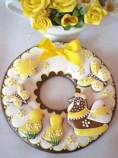 yellow# easter# cookies
