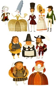 History of fashion! by Wesley Robins, via Behance ✤ || CHARACTER DESIGN REFERENCES