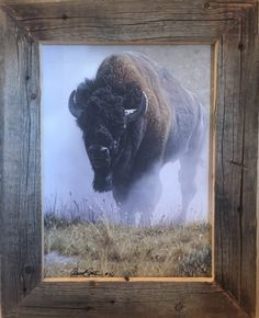 Out of the Dust painting by Daniel Smith. Framed by Rory's Rustic Furniture. Made in Montana. Featured at Homestead89 Furniture Art and Design Gallery