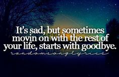 Starts With Goodbye - Carrie Underwood