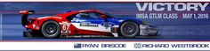 The Ford EcoBoost powered Ford GT driven by Ryan Briscoe & Richard Westbrook scored their first victory in the IMSA GTLM class at the Continental Tire Grand Prix at Mazda Raceway Laguna Seca on May 1, 2016. Main photo: Ford Performance —