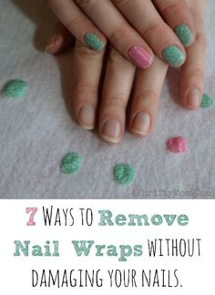 How to easily remove jamberry nail wraps without causing damage to your nails, Nailart, Nail art wraps tips and tricks for nail Design