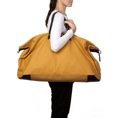 Canvas and Leather Weekender Bag Black / Cuyana | Style . Bags ...