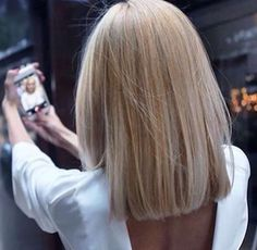 Image result for long blunt bob blonde