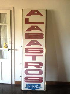 Garagem vintage: Antiguo cartel tienda alabastros