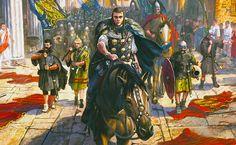 """""""Alaric entre dans Rome le 27 août 410. La mise à sac est contrôlée: posant en général romain légitime, le chef wisigoth ordonne notamment le respect des églises"""""""