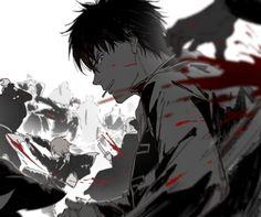 Okita Sougo х Kagura / Сого х Кагура Bleach Anime, Hot Anime Boy, Cute Anime Guys, Anime Kunst, Anime Art, Otaku, Okikagu, Sad Art, Guy Drawing