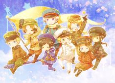 Tags: Axis Powers: Hetalia, Japan, France, China, Russia, North Italy, Germany, United States, United Kingdom, Pixiv Id 2584338
