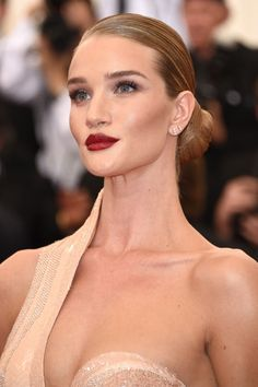 Rosie Huntington-Whiteley in Atelier Versace Gown at 2015 Met Gala in New York City