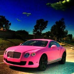 One more for the ladies! Barbie pink Bentley!