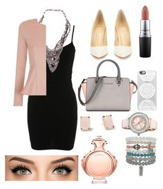 """Untitled #41"" by agusmachado16 on Polyvore featuring Miss Selfridge, Serefina, Topshop, Christian Louboutin, Casetify, MAC Cosmetics, Kate Spade, Ted Baker, Paco Rabanne and women's clothing"