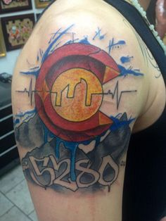 Sick Colorado tattoo - abstract by Yeyo @ Certified Customs